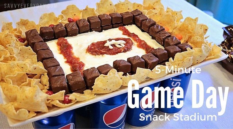 5-Minute Game Day Snack Stadium