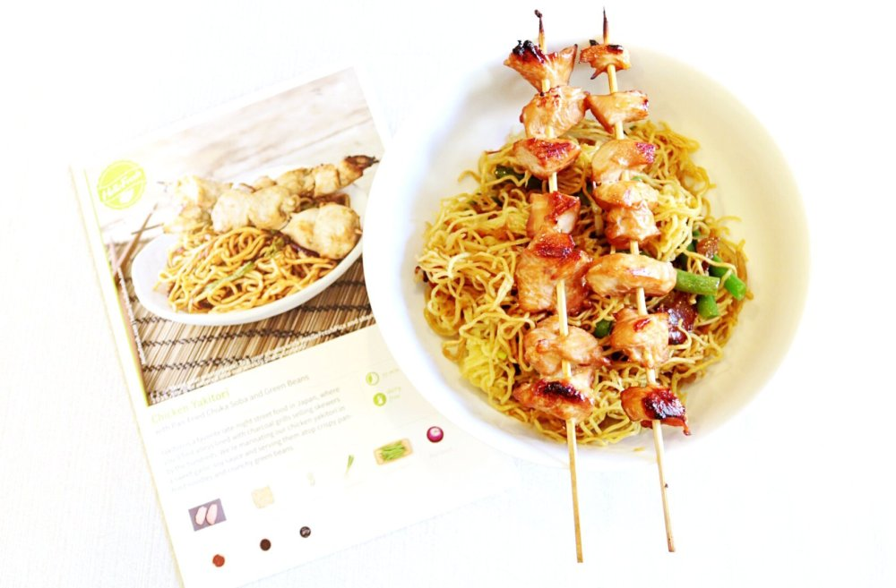 chicken meal and recipe card