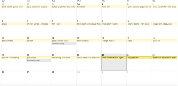 How to Make a Weekly Meal Plan, Stress-Free Savvy Family Finance - meal calendar
