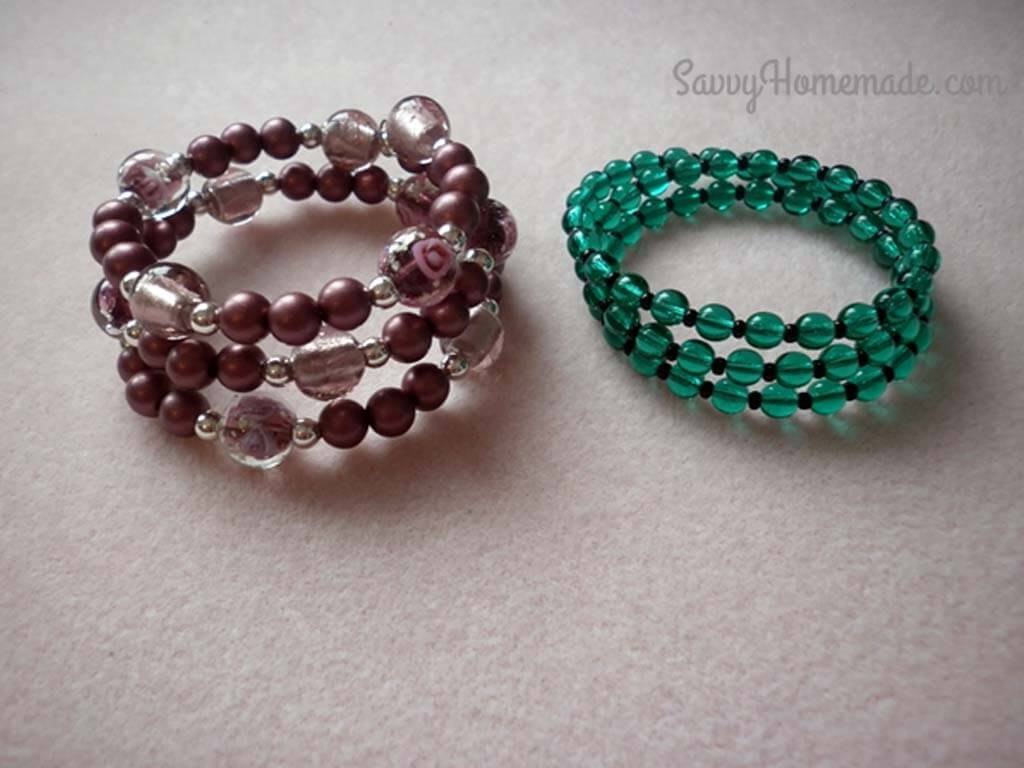 This Quick Memory Wire Bracelets Diy Will Spice Up Your