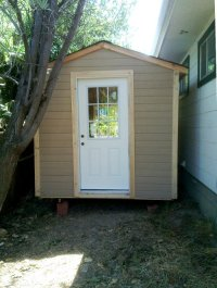 Savvy Housekeeping  Turning A Shed Into An Office Part 1