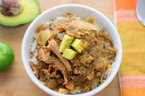 Crock Pot Green Chili Chicken Stew (Tomatillo Stew)