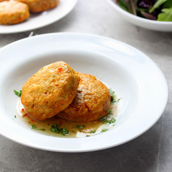 Carrot and Chickpea Cakes