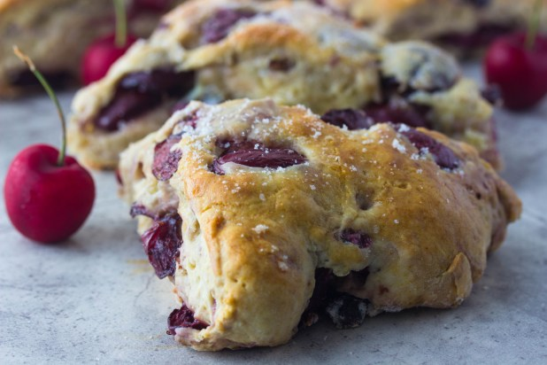 Fresh Cherry Scones (Low-fat)