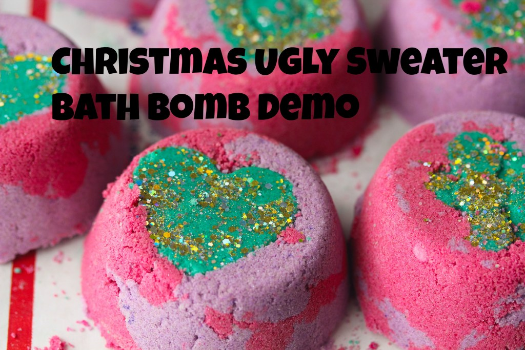 Ugly Sweater Bath Bomb Demo