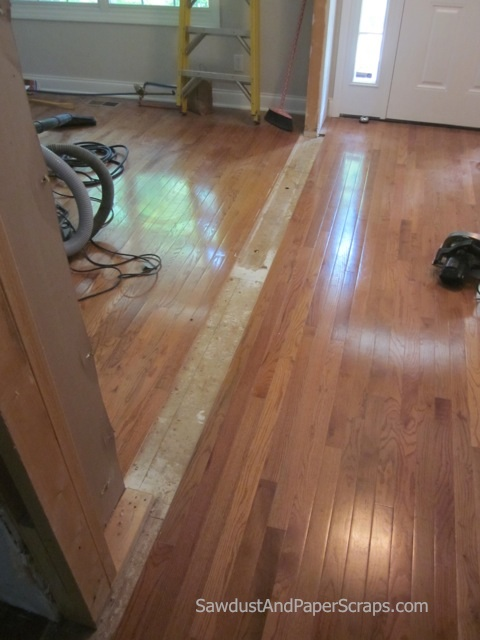 patching wood floors - sawdust girl®