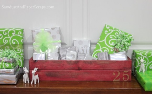 DIY Wooden Crate Advent Calendar