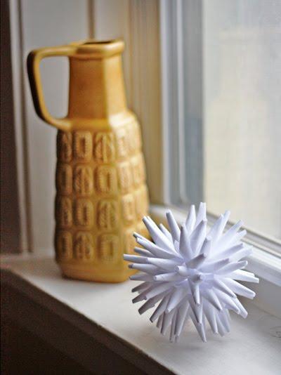 porcupine ball diy Christmas ornament