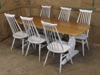 Painted Ercol Table & 6 Chairs