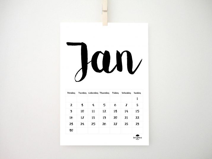 These 35 calendar ideas for 2018 will astonish you!