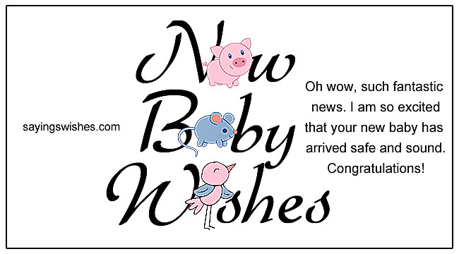 New Baby Wishes Newborn Baby Girl Quotes Baby Boy Congratulations