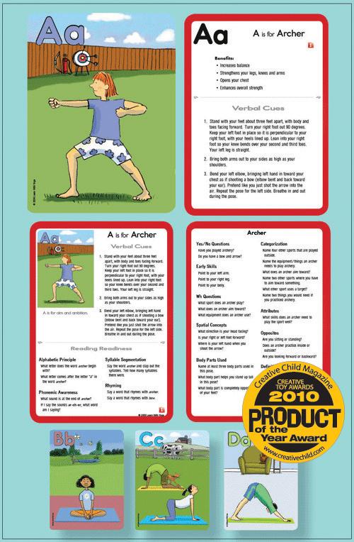 Learn With Yoga ABC Yoga Cards for Kids - Alphabet cards