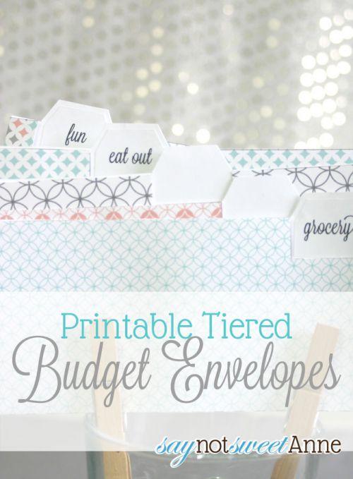 Printable Budget Envelopes - Sweet Anne Designs