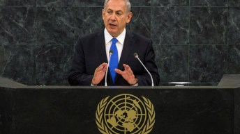 Israel Prime Minister Benjamin Netanyahu Addresses UN General Assembly