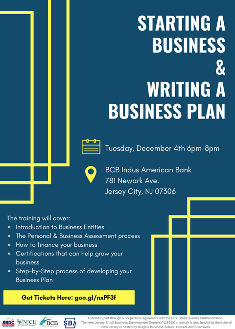 Starting a Business and Writing a Business Plan - Small Business