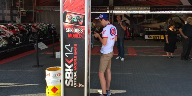 Gamers playing SBK14 at Misano