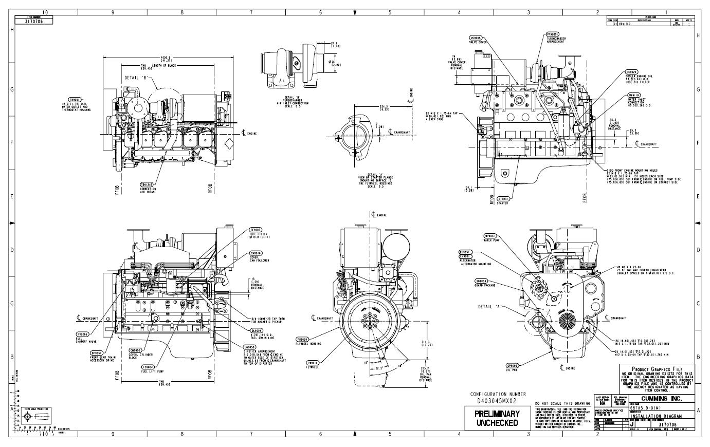 cummins isx Motor diagram
