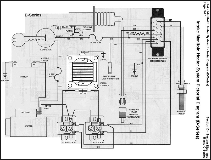 Cummins Marine Heater Grid Assembly Wiring Diagram - Seaboard Marine