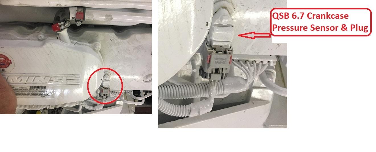 QSB 67 Crankcase Pressure Sensor Location - Seaboard Marine