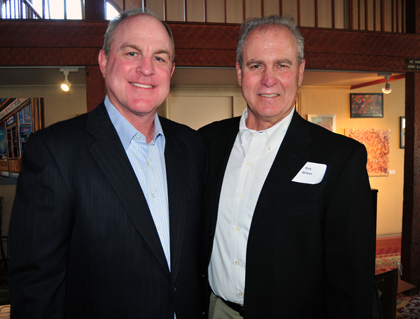 Later on Monday, the Athletic Round Table hosted former UCLA men's basketball coach Ben Howland, pictured with Rick Wilson, at the annual Prelude to March Madness event at the Cabrillo Arts Pavilion. (Presidio Sports Photos)