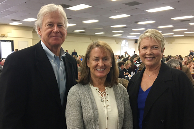 Union Bank's Randy Weiss, left, with Laurie Leighty of sponsor America Riviera Bank and Penny Sharrett of Union Bank.