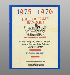 Santa Barbara Athletic Round Table 1976 Hall of Fame Banquet Cover