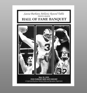 Santa Barbara Athletic Round Table 1995 Hall of Fame Banquet Cover