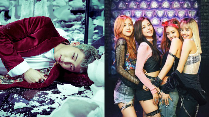 Dreads Girl Wallpaper Bts Rap Monster Spotted Rocking Out To Black Pink At 2016
