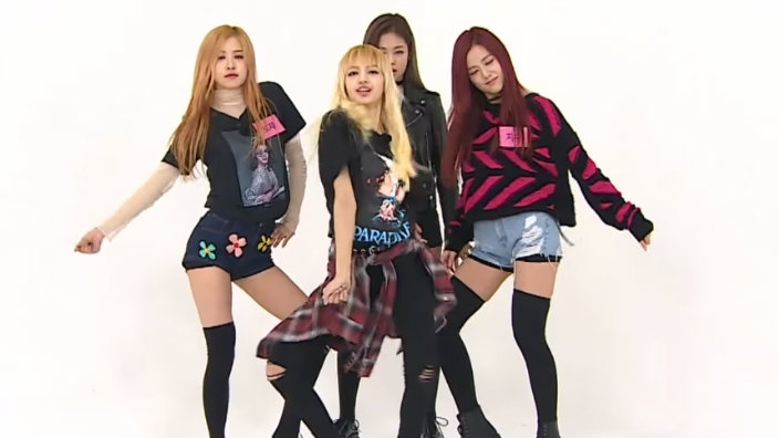 Cute Korean Cartoon Wallpaper Black Pink Completely Slays Up Boombayah At 2x Speed On