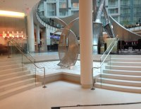 Custom Post Supported Glass Rail | Marriott Marquis | SC ...