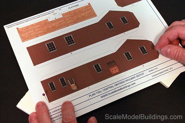 Cardstock Model Building for Model Trains - printable cardstock