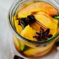 Chai pickled peaches