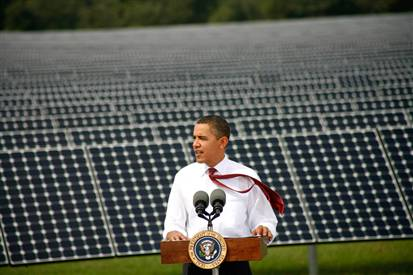 President Barack Obama has demonstrated his commitment to the clean energy economy