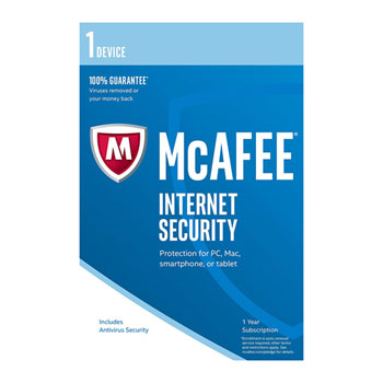 1 PC McAfee Intel Internet Security Software 1 Year Key Protection