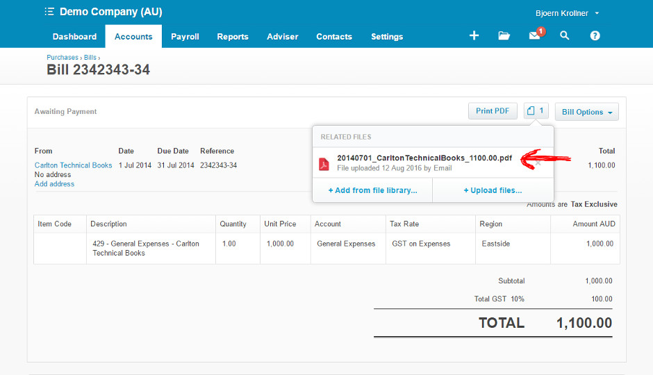 Scan invoices and receipts directly into Xero - Scan Invoices into Xero
