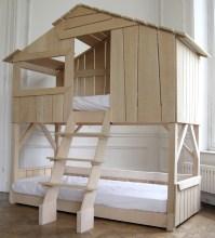 lit cabane enfant double couchage