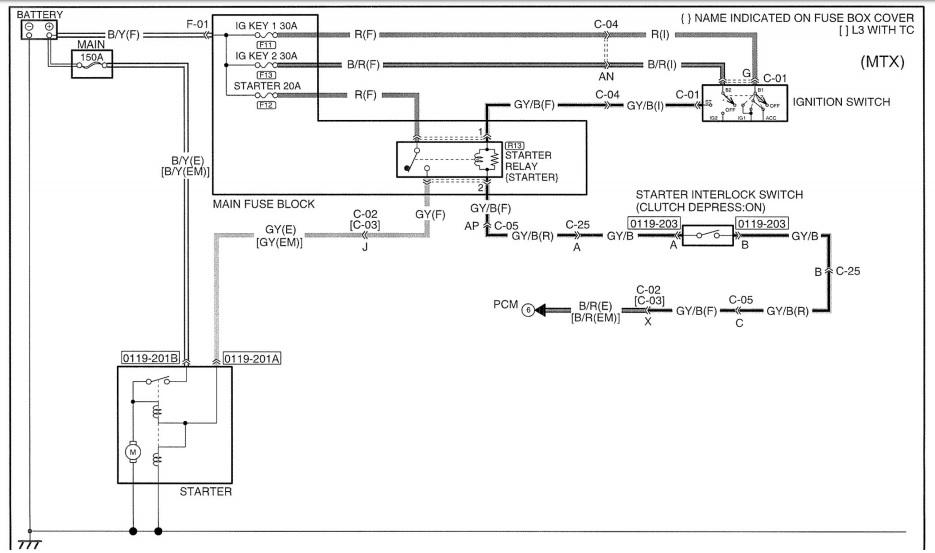2001 Mazda Tribute Engine Diagram Starter  Mazda Tribute