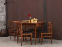 Mid-century Wooden Extending Dining Table And Chairs ...