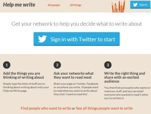 A new way to decide what to blog about