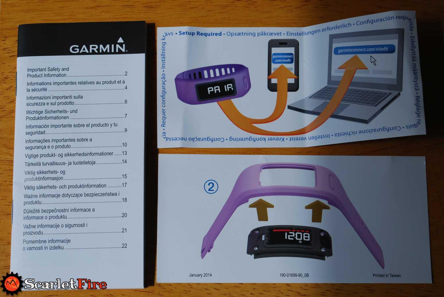 garmin vivofit instruction video