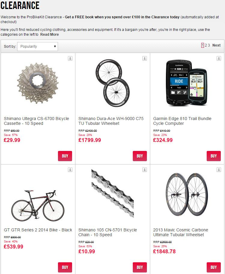 Probikekit clearance section