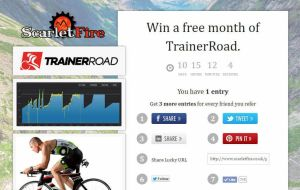 Win a free month of TrainerRoad. 5 up for grabs!