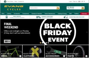 black friday evans cycles