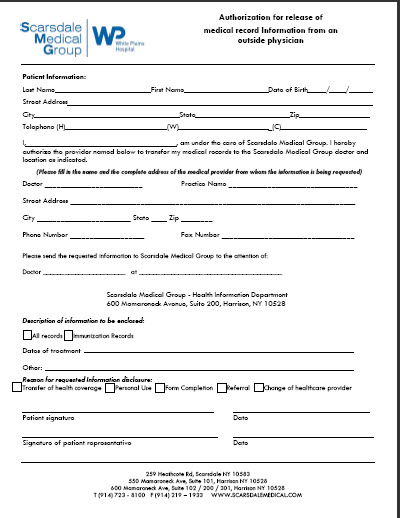 Scarsdale Medical Group - Forms