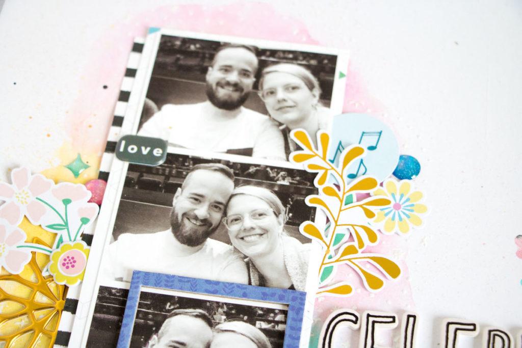 Scattered Confetti - Hip Kit Club Scrapbook Layout Celebrate +