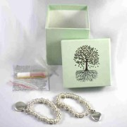 Silver Sweetie Style Memorial Charm Bracelet with ashes transfer kit
