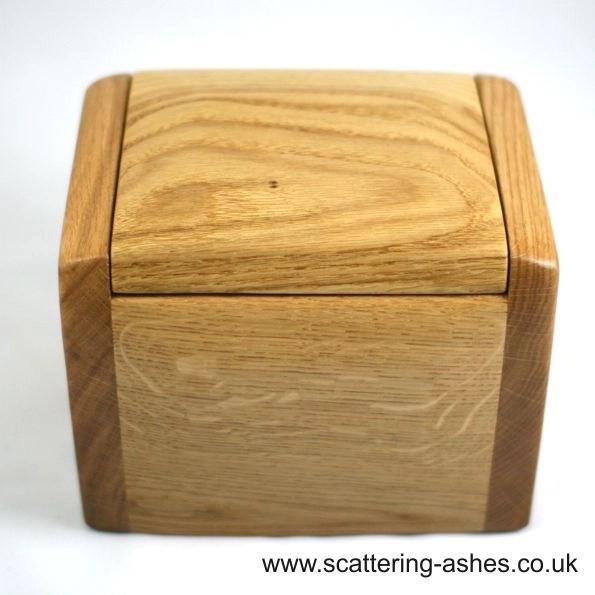 natural wood urn ashes cremation urn