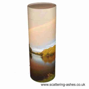 Cremation urn for scattering ashes. Rainbow Scatter Tubes