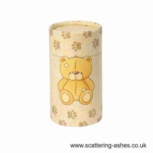 Teddy bear scatter tubes - Cremation urn for scattering ashes