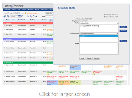 Employee Scheduling Software ScheduleAnywhere